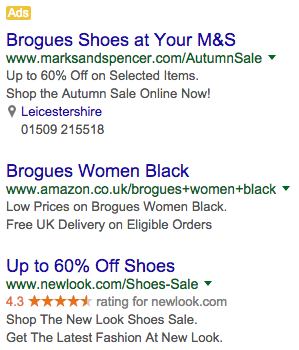 examples of good adwords ad copy