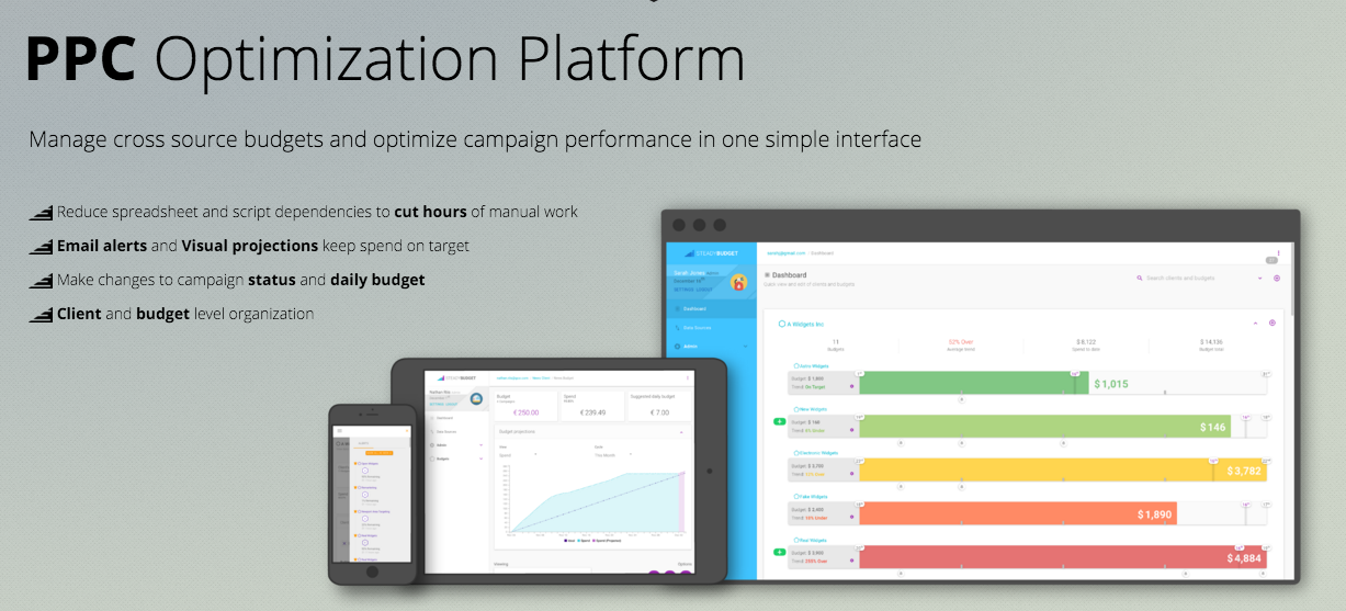 steadybudget ppc tool management