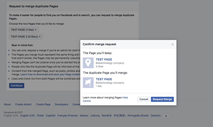 Facebook Page Merge Guide 2